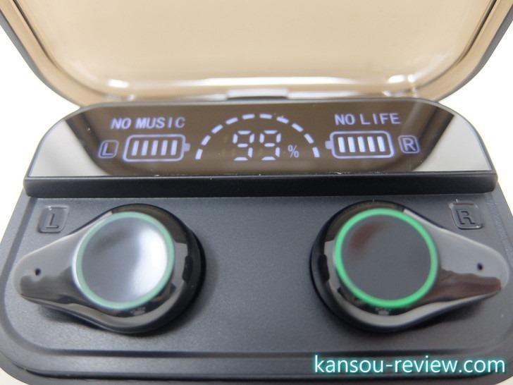 「ワイヤレスイヤホン HJF-01/Memeda」レビュー ~バッテリー残量が細かく分かる~
