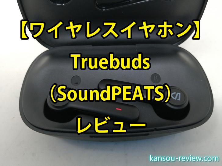 「ワイヤレスイヤホン Truebuds/SoundPEATS」レビュー ~耳が一切痛くならない~